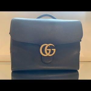 Gucci black leather briefcase